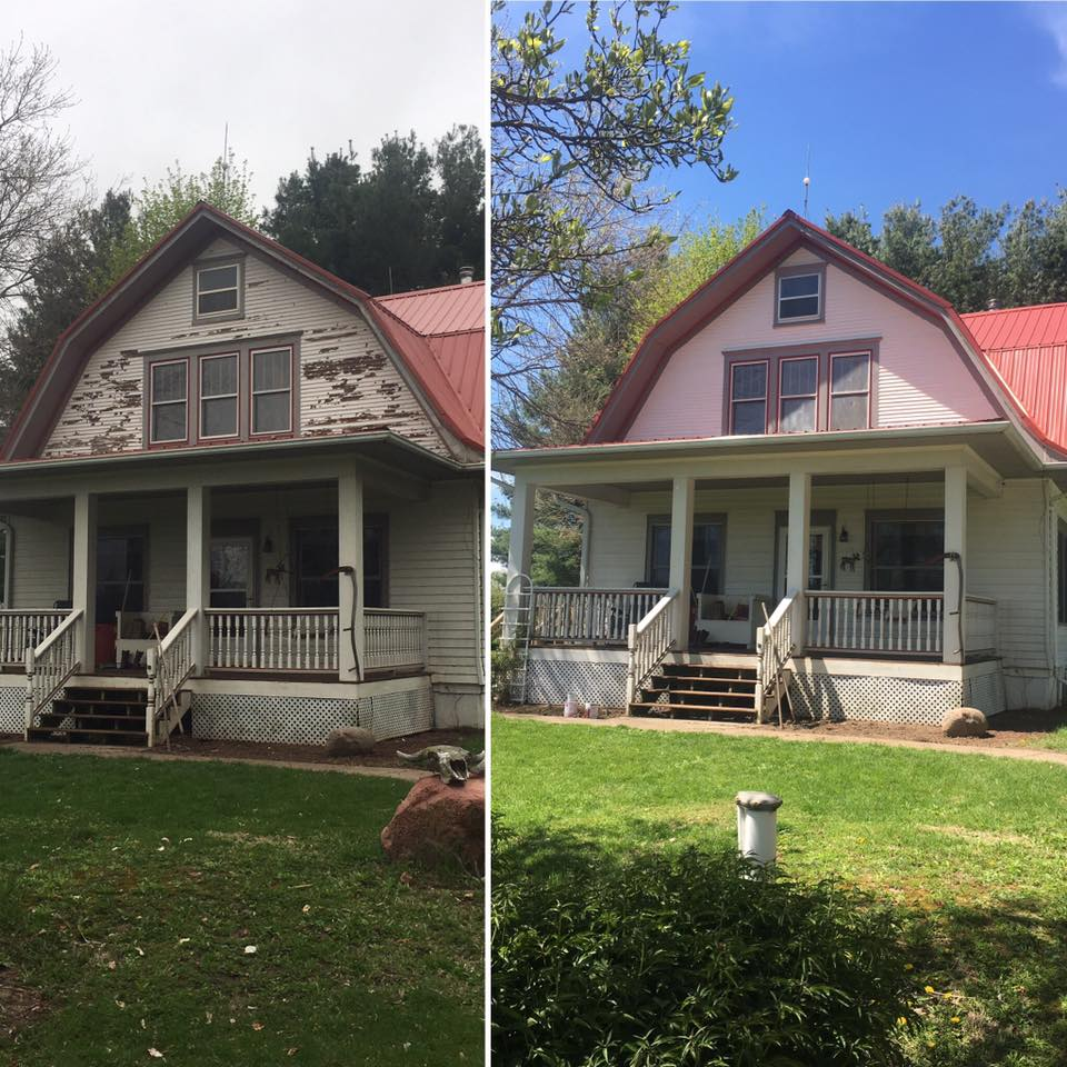 After Power Washing, We Can Also Repaint Your Homeu0027s Exterior, Depending On  The Type Of Siding. A Little Paint Restoration Project On This Old Iowa  Farm ...